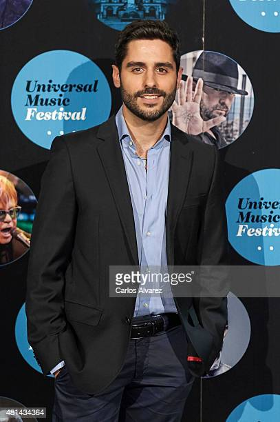 Spanish actor Miguel Diosdado attends the Elton John concert at the Royal Theater on July 20 2015 in Madrid Spain