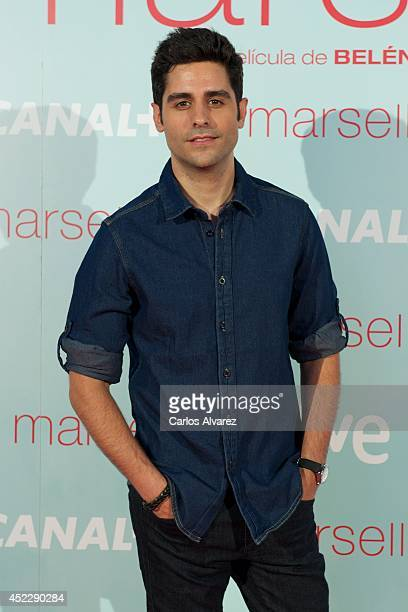 Spanish actor Miguel Diosdado attends the 'Marsella' premiere at the Capitol cinema on July 17 2014 in Madrid Spain