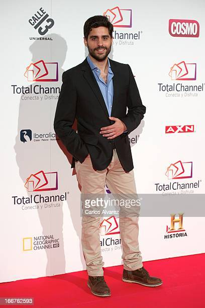 Spanish actor Miguel Diosdado attends 'Total Channel' presentation at the Shoko Club on April 16 2013 in Madrid Spain