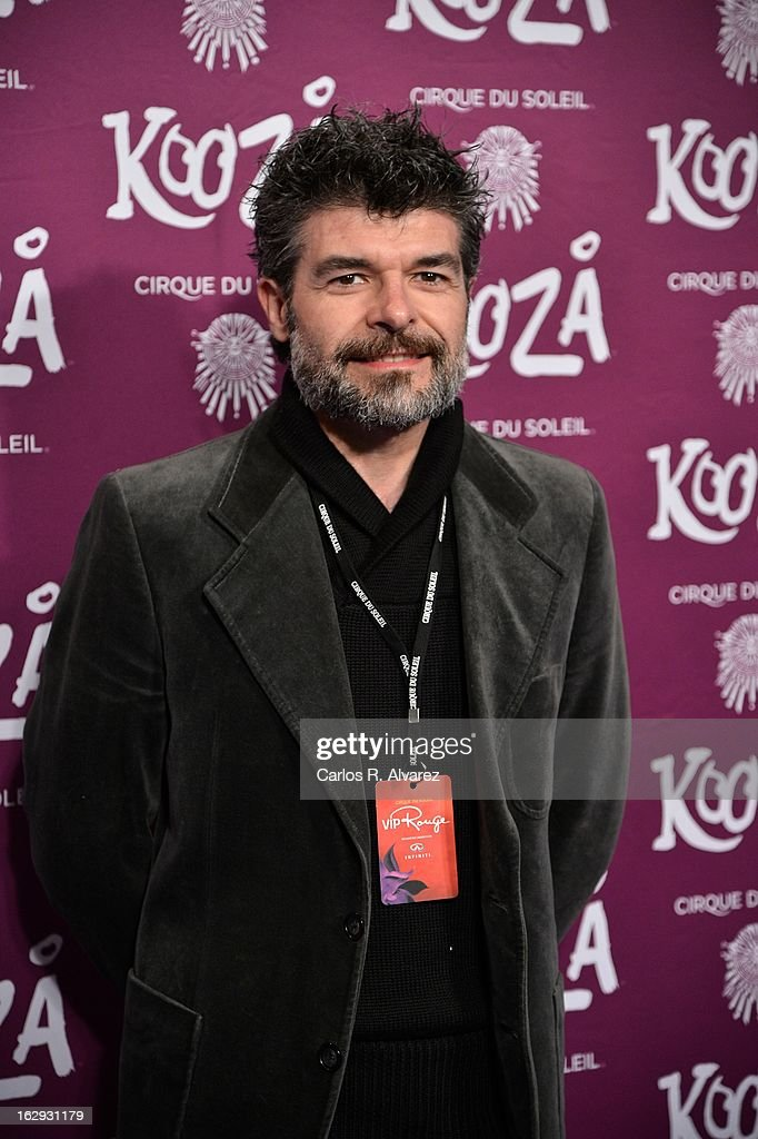 Spanish actor Nacho Guerreros attends 'Cirque Du Soleil' Kooza 2013 premiere on March 1, 2013 in Madrid, Spain.