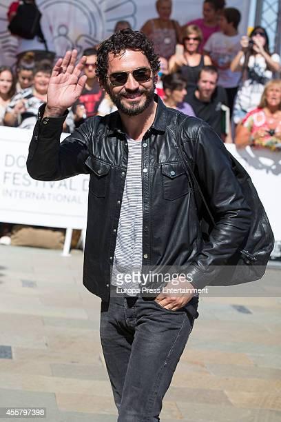 Spanish actor Paco Leon arrives at the Maria Cristina Hotel during the 62st San Sebastian International Film Festival on September 20 2014 in San...