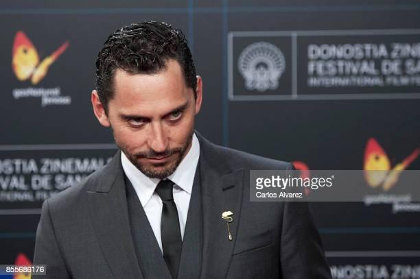 Spanish actor Paco Leon attends 'La Peste' premiere during the 65th San Sebastian International Film Festival on September 29 2017 in San Sebastian...