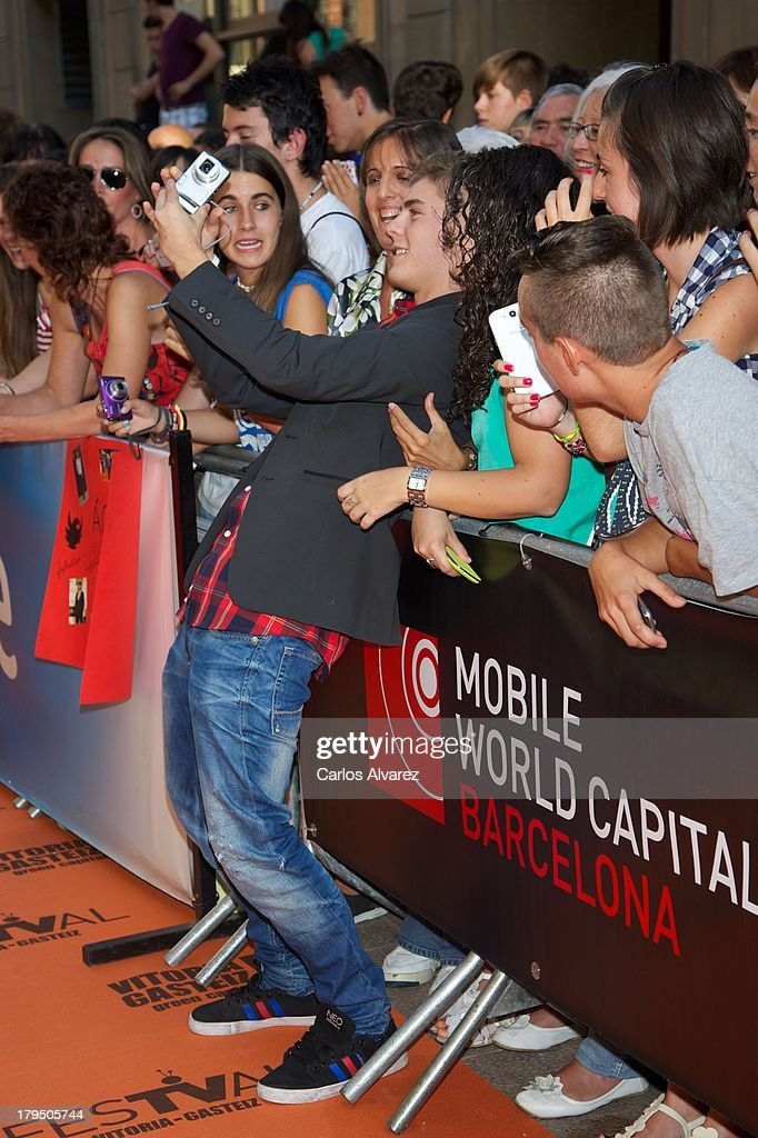 Spanish actor Patrick Criado attends the 'Aguila Roja' new season red carpet during the day three of 5th FesTVal Television Festival 2013 at the Principal Theater on September 4, 2013 in Vitoria-Gasteiz, Spain.