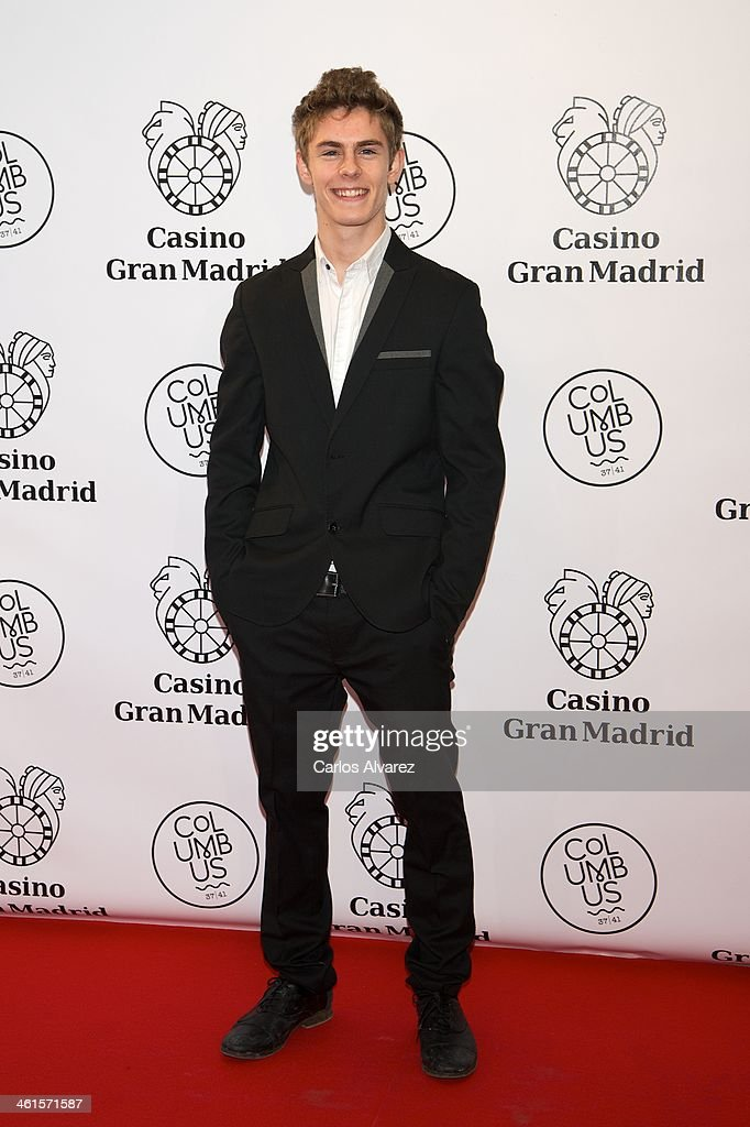 Spanish actor Patrick Criado attends the Casino Gran Madrid Colon opening on January 9, 2014 in Madrid, Spain.