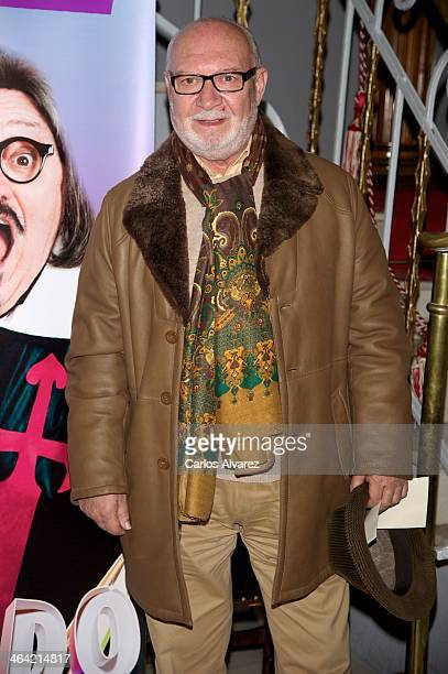 Spanish actor Pepe Ruiz attends the 'Yo Quevedo' premiere at the Munoz Seca theater on January 21 2014 in Madrid Spain