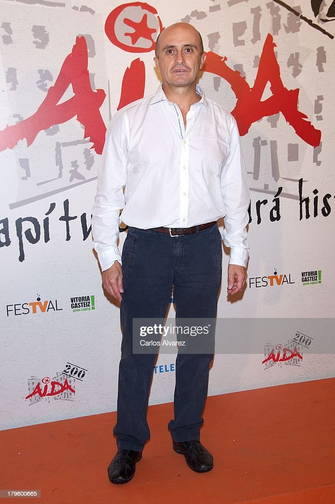 Spanish actor Pepe Viyuela attends the 'Aida' new season red carpet during the day four of 5th FesTVal Television Festival 2013 at the Villa Suso Palace on September 5, 2013 in Vitoria-Gasteiz, Spain.