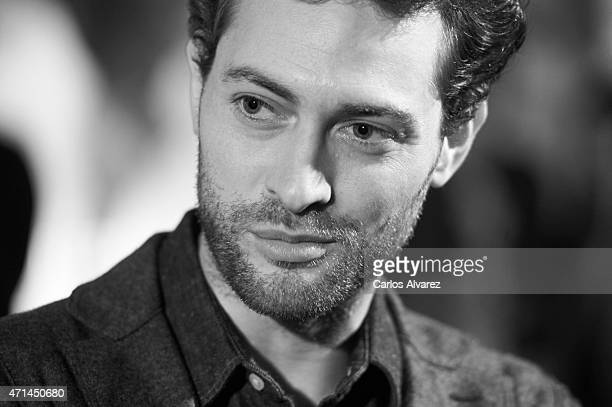 Spanish actor Peter Vives attends 'Game of Thrones' exhibition photoccall at the Matadero cultural center on April 28 2015 in Madrid Spain