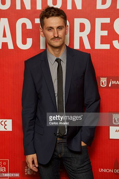 Spanish actor Raul Arevalo attends 21st 'Union de Actores Awards' 2012 at Circo Price Theater on June 18 2012 in Madrid Spain