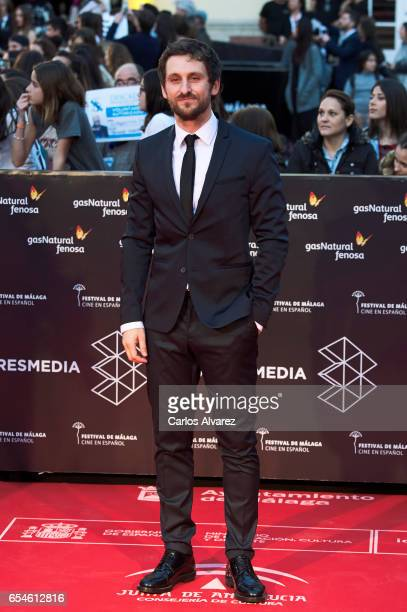 Spanish actor Raul Arevalo attends the 20th Malaga Film Festival 2017 opening ceremony at the Cervantes Theater on March 17 2017 in Malaga Spain