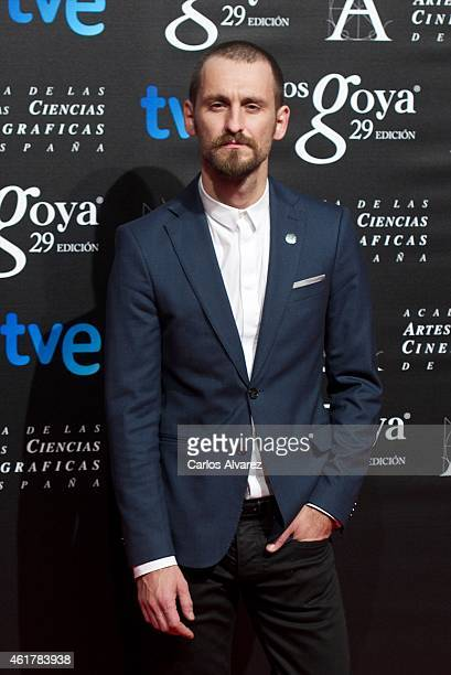 Spanish actor Raul Arevalo attends the 29th Goya Awards Nominated party at the Canal Theater on January 19 2015 in Madrid Spain