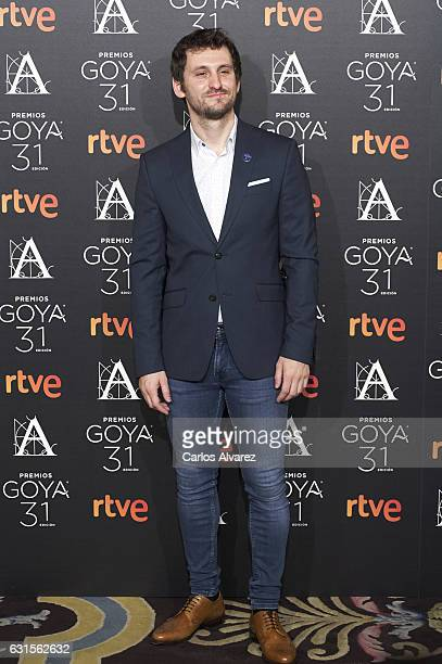 Spanish actor Raul Arevalo attends the Goya cinema awards candidates 2016 cocktail at the Ritz Hotel on January 12 2017 in Madrid Spain