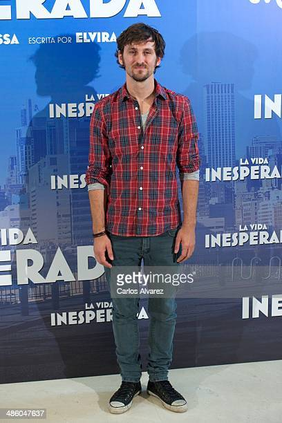 Spanish actor Raul Arevalo attends the 'La Vida Inesperada' photocall at the Hesperia Hotel on April 22 2014 in Madrid Spain