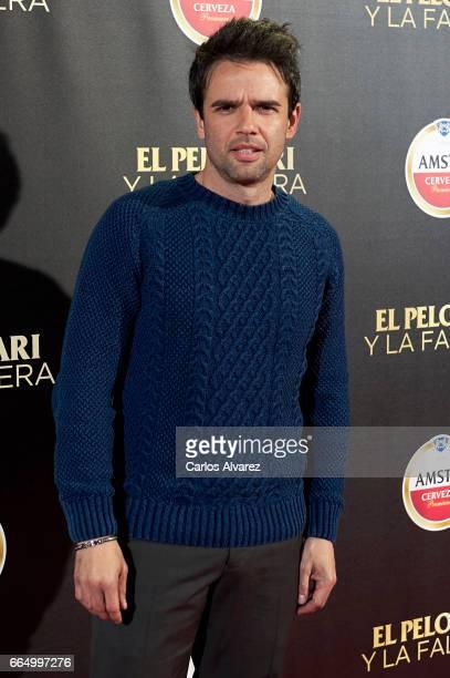 Spanish actor Raul Pena attends 'El Pelotari Y La Fallera' premiere at the Callao cinema on April 5 2017 in Madrid Spain