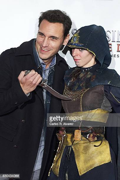 Spanish actor Ricard Sales attends 'Assassin's Creed' premiere at Kinepolis cinema on on December 22 2016 in Madrid Spain