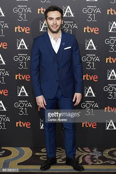 Spanish actor Ricardo Gomez attends the Goya cinema awards candidates 2016 cocktail at the Ritz Hotel on January 12 2017 in Madrid Spain