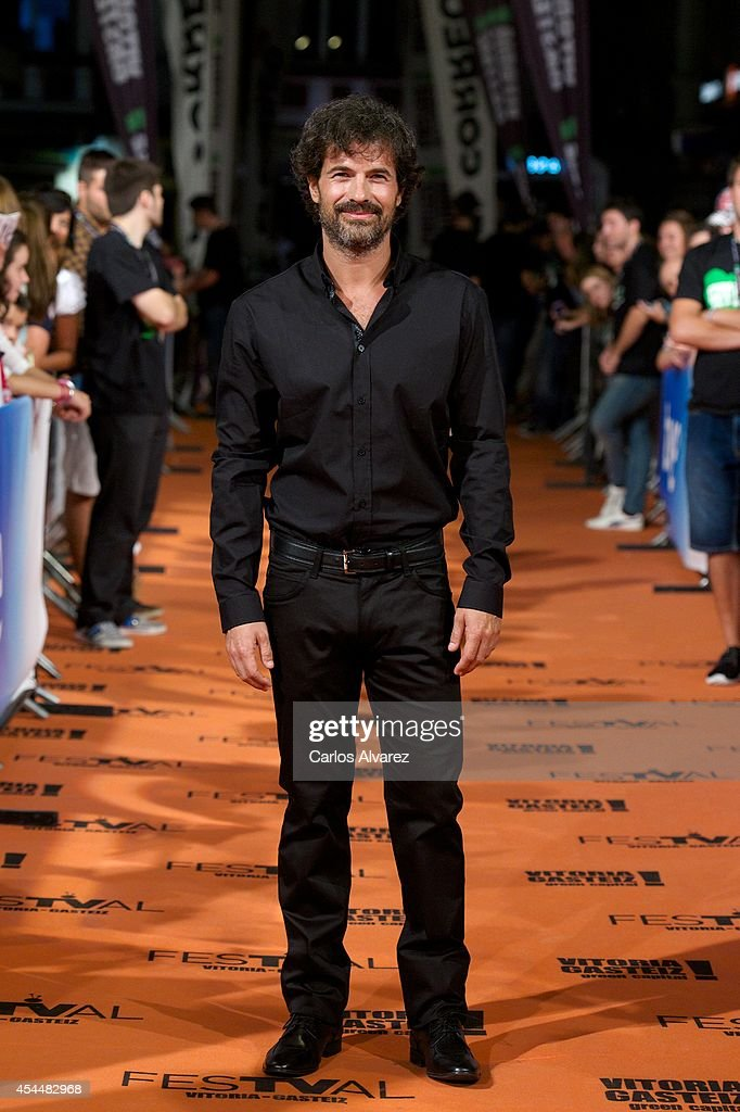 Spanish actor <a gi-track='captionPersonalityLinkClicked' href=/galleries/search?phrase=Rodolfo+Sancho&family=editorial&specificpeople=5717157 ng-click='$event.stopPropagation()'>Rodolfo Sancho</a> attends 'Isabel' 3th season premiere at the Principal Theater during the FesTVal 2014 day 1 on September 1, 2014 in Vitoria-Gasteiz, Spain.