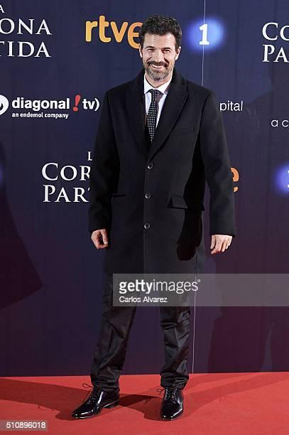 Spanish actor Rodolfo Sancho attends 'La Corona Partida' premiere at the Capitol cinema on February 17 2016 in Madrid Spain