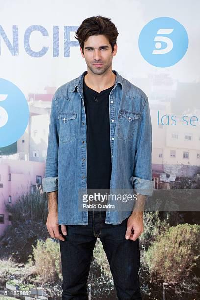 Spanish actor Ruben Cortada presents 'El Principe' at Mediaset Studios on February 23 2016 in Madrid Spain
