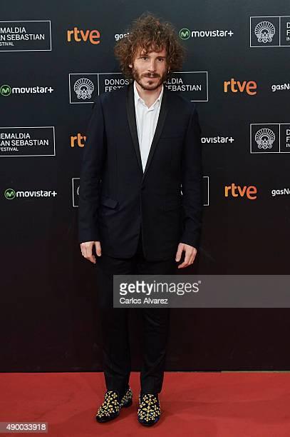 Spanish actor Ruben Ochandiano arrives at the Donostia Award Gala 2015 during the 63rd San Sebastian International Film Festival at the Kursaal...