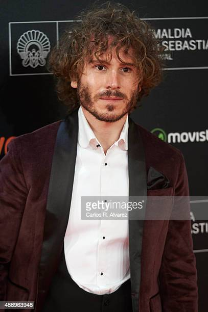 Spanish actor Ruben Ochandiano attends 'Regression' premiere during the 63rd San Sebastian International Film Festival at the Kursaal Palace on...
