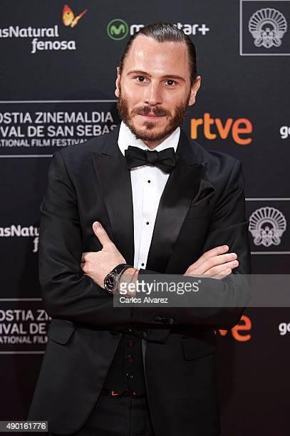 Spanish actor Ruben Ochandiano attends the closing ceremony red carpet of the 63rd San Sebastian International Film Festival at the Kursaal Palace on...