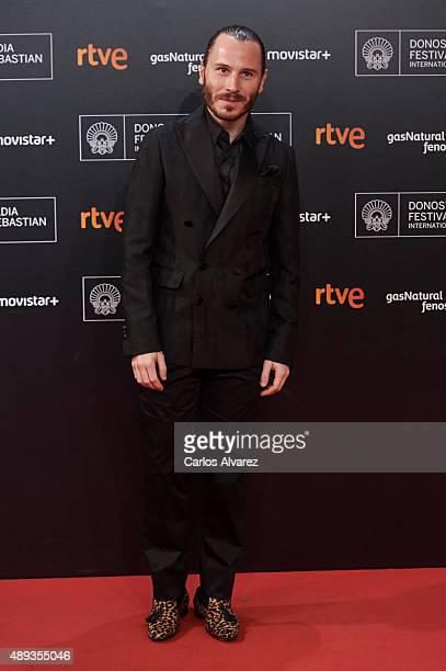Spanish actor Ruben Ochandiano attends the 'Mi Gran Noche' premiere at the Kursaal Palace during 63rd San Sebastian International Film Festival on...