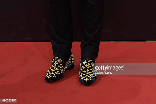 Spanish actor Ruben Ochandiano shoes detail arrives at the Donostia Award Gala 2015 during the 63rd San Sebastian International Film Festival at the...