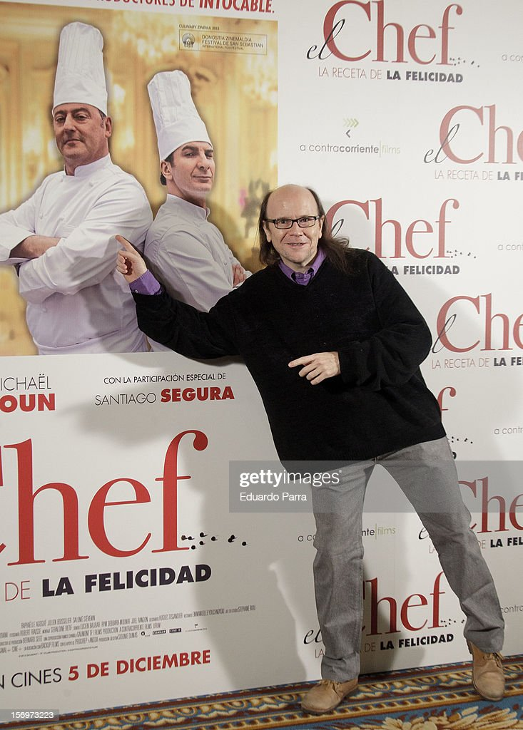 Spanish actor Santiago Segura attends 'El Chef, la receta de la felicidad' ('Comme un chef') photocall at Intercontinental hotel on November 26, 2012 in Madrid, Spain.