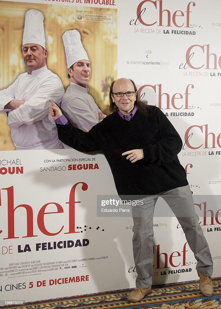 Spanish actor Santiago Segura attends 'El Chef, la receta de la felicidad' ('Comme un chef') photocall at Intercontinental hotel on November 26, 2012 in Madrid, Spain.