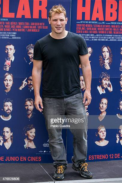 Spanish actor Sergio PerisMencheta attends the 'Hablar' photocall at Sala Mirador on June 10 2015 in Madrid Spain