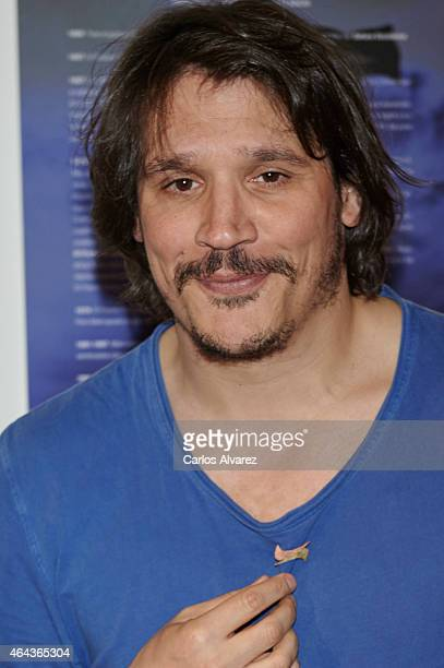 Spanish actor Sergio PerisMencheta attends 'Union de Actores' press conference on February 25 2015 in Madrid Spain