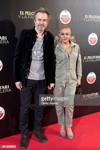 Spanish actor Tristan Ulloa attends 'El Pelotari Y La Fallera' premiere at the Callao cinema on April 5 2017 in Madrid Spain