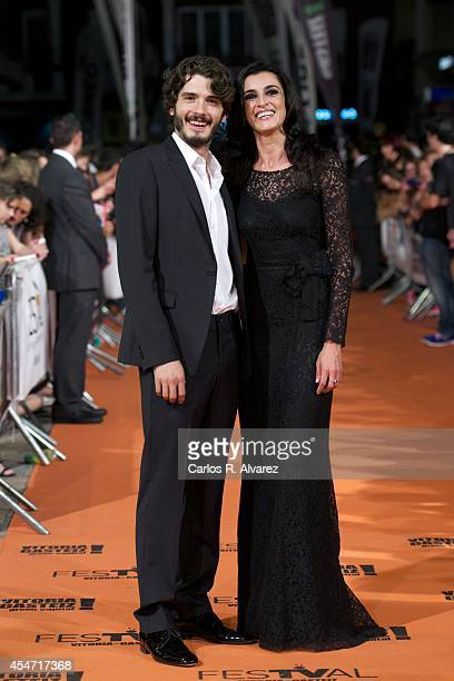 Spanish actor Yon Gonzalez and actress Blanca Romero attend the 'Bajo Sospecha' new season premiere at the Principal Theater during day 5 of the 6th...