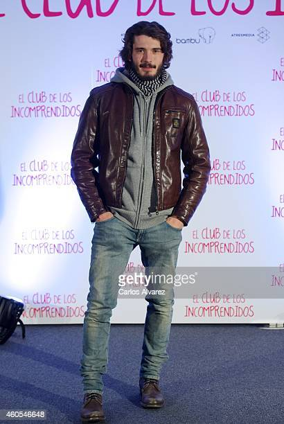 Spanish actor Yon Gonzalez attends 'El Club de los Incomprendidos' photocall at the ME Hotel on December 16 2014 in Madrid Spain