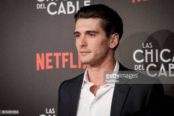 Spanish actor Yon Gonzalez attends 'Las Chicas Del Cable' premiere at the Callao cinema on April 27 2017 in Madrid Spain