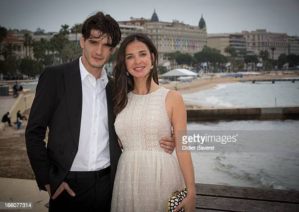 Spanish actor Yon Gonzalez Luna and actress Paula Prendes Martinez pose during a photocall for the TV series 'Grand Hotel' at MIP TV 2013 on April 8...