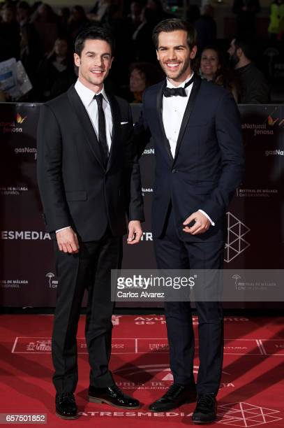 Spanish actors Alejo Sauras and Marc Clotet attend the 'Pieles' premiere on day 8 of the 20th Malaga Film Festival at the Cervantes Teather on March...