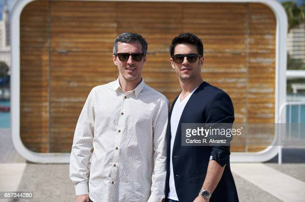 Spanish actors Andres Gertudrix and Alejo Sauras attend the 'El Jugador de Ajedrez' photocall on day 8 of the 20th Malaga Film Festival on March 24...