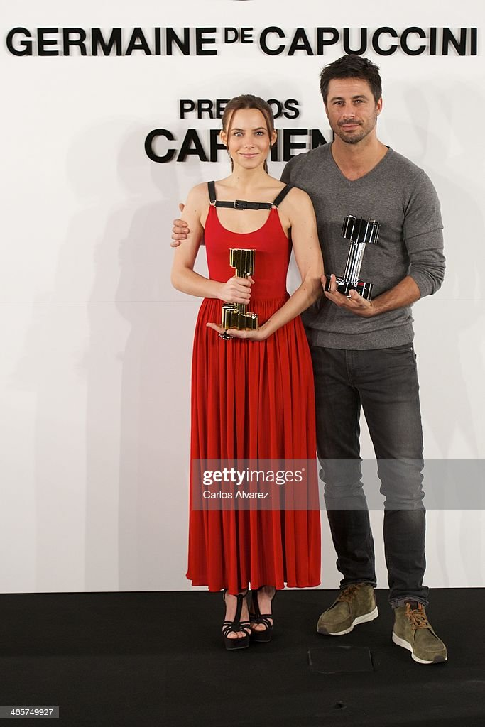 Aura Garrido and Hugo Silva Receive Carmen Award by Germaine de Capuccini