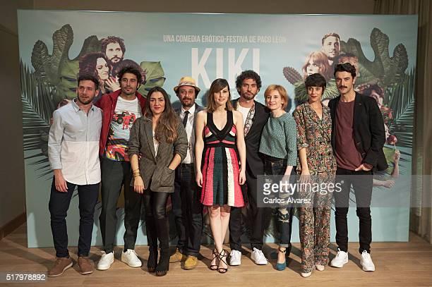 Spanish actors David Mora Alex Garcia Candela Pena Luis Callejo Natalia de Molina Paco Leon Mari Paz Sayago Belen Cuesta and Javier Rey attend 'Kiki...