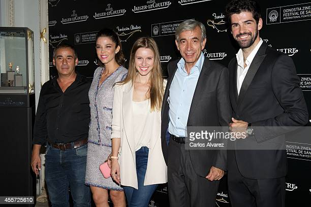 Spanish actors Eduard Fernandez Juana Acosta Manuela Velles Imanol Arias and Miguel Angel Munoz attend Aladina Foundation JaegerLeCoultre 'Time To...