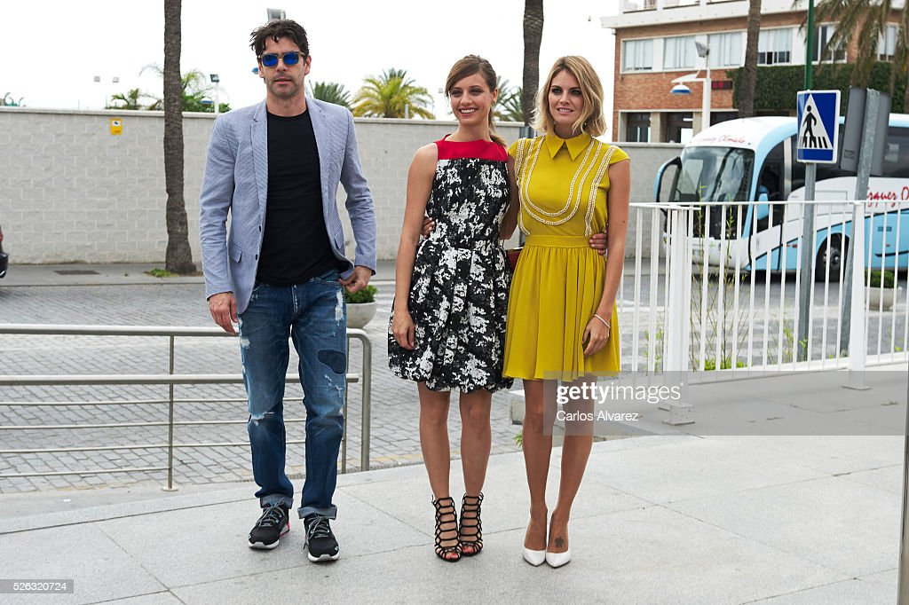 Spanish actors <a gi-track='captionPersonalityLinkClicked' href=/galleries/search?phrase=Eduardo+Noriega&family=editorial&specificpeople=790357 ng-click='$event.stopPropagation()'>Eduardo Noriega</a>, <a gi-track='captionPersonalityLinkClicked' href=/galleries/search?phrase=Michelle+Jenner&family=editorial&specificpeople=4388105 ng-click='$event.stopPropagation()'>Michelle Jenner</a> and <a gi-track='captionPersonalityLinkClicked' href=/galleries/search?phrase=Amaia+Salamanca&family=editorial&specificpeople=5084489 ng-click='$event.stopPropagation()'>Amaia Salamanca</a> attend 'Nuestros Amantes' photocall during the 19th Malaga Film Festival on April 30, 2016 in Malaga, Spain.