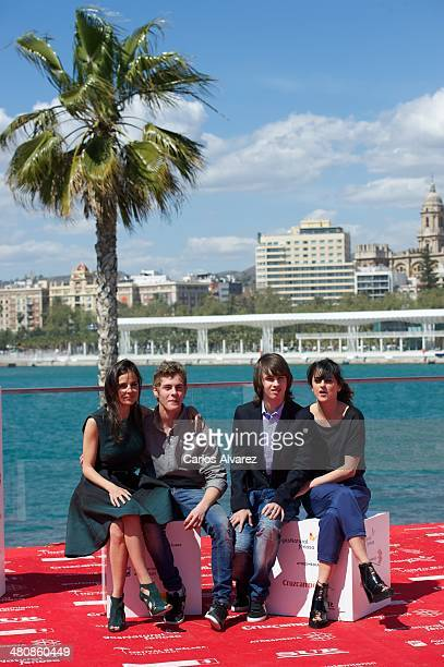 Spanish actors Elena Anaya Patrick Criado Cristian Bernal and director Beatriz Sanchis attend the 'Todos Estan Muertos' photocall during the 17th...