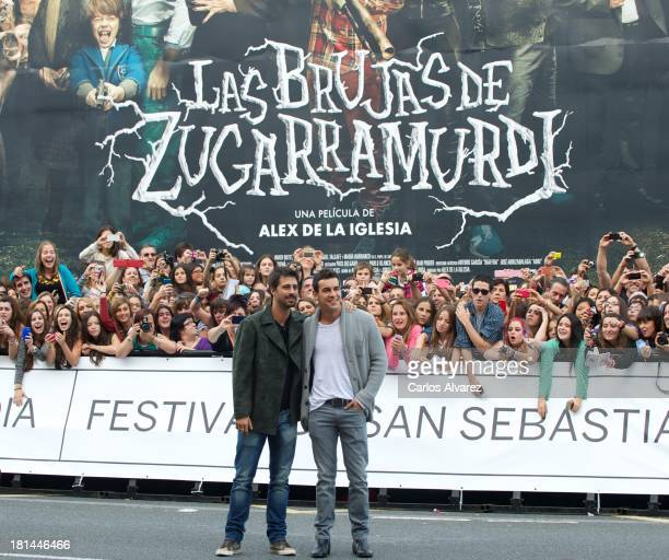 Spanish actors Hugo Silva and MArio Casas arrive at the Maria Cristina Hotel during the 61th San Sebastian International Film Festival on September...