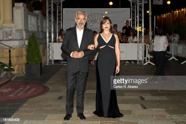 Spanish actors Imanol Arias and Aida Folch attend the 'Vicente Ferrer' premiere during the 61st San Sebastian International Film FEstival at the...