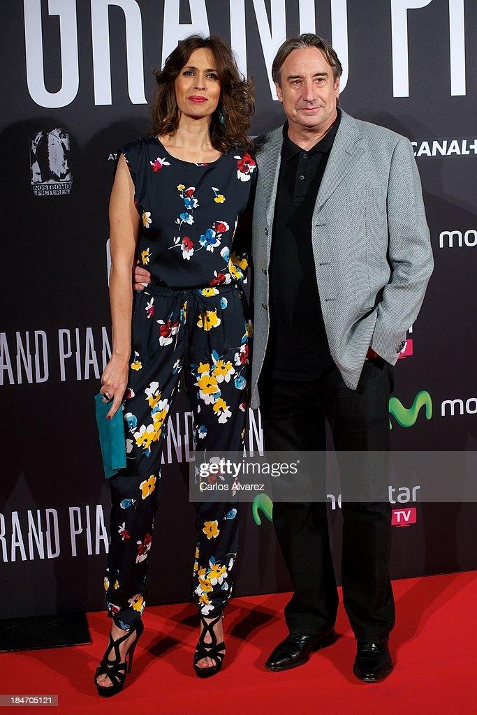 Spanish actors Lola Marceli and Juanjo Puigcorbe attend 'Grand Piano' premiere at the Callao cinema on October 15, 2013 in Madrid, Spain.