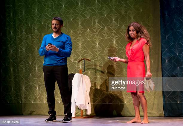 Spanish actors Luis Mottola and Lolita Flores attend to Graphic Pass of Prefiero que seamos amigos in Madrid on April 18 2017