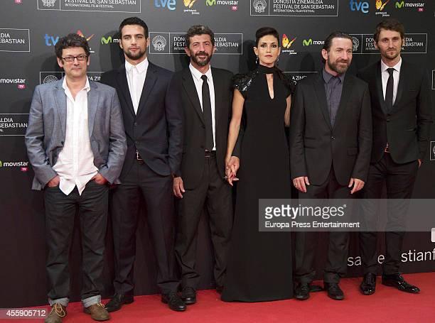Spanish actors Manolo Solo Jesus Castro director Alberto Rodriguez actress Nerea Barros actors Antonio de la Torre and Raul Arevalo attend the 'La...