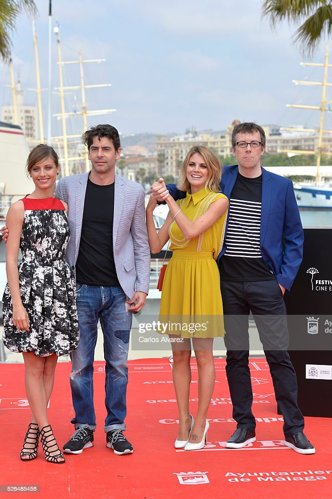 Spanish actors <a gi-track='captionPersonalityLinkClicked' href=/galleries/search?phrase=Michelle+Jenner&family=editorial&specificpeople=4388105 ng-click='$event.stopPropagation()'>Michelle Jenner</a>, <a gi-track='captionPersonalityLinkClicked' href=/galleries/search?phrase=Eduardo+Noriega&family=editorial&specificpeople=790357 ng-click='$event.stopPropagation()'>Eduardo Noriega</a>, <a gi-track='captionPersonalityLinkClicked' href=/galleries/search?phrase=Amaia+Salamanca&family=editorial&specificpeople=5084489 ng-click='$event.stopPropagation()'>Amaia Salamanca</a> and director Miguel Angel Lamata attend 'Nuestros Amantes' photocall during the 19th Malaga Film Festival on April 30, 2016 in Malaga, Spain.