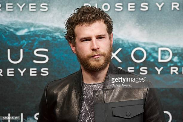 Spanish actress actor Alvaro Cervantes attends the 'Exodus Gods and Kings' premiere at the Kinepolis cinema on December 4 2014 in Madrid Spain